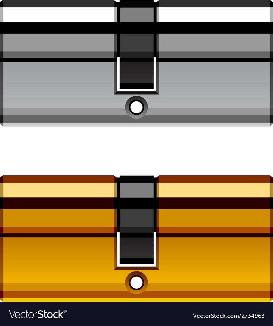 Door lock cylinder cartridge vector | Price: 1 Credit (USD $1)