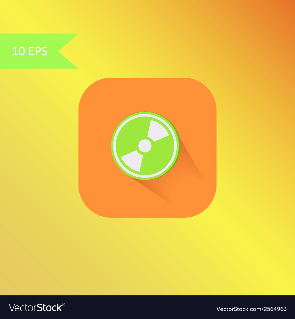 Flat design mp3 icon element vector | Price: 1 Credit (USD $1)