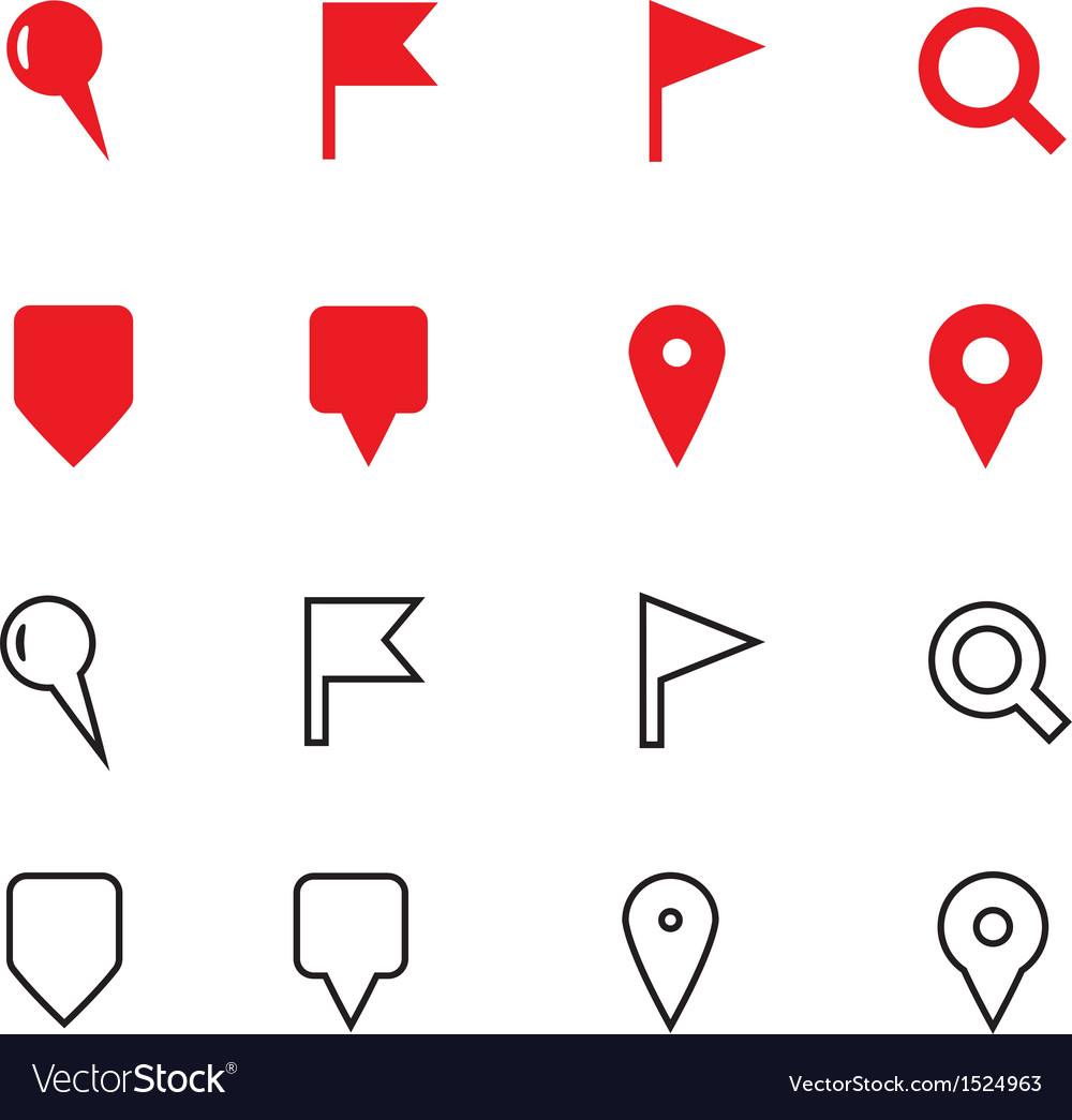 Gps and navigation icons on white background vector | Price: 1 Credit (USD $1)