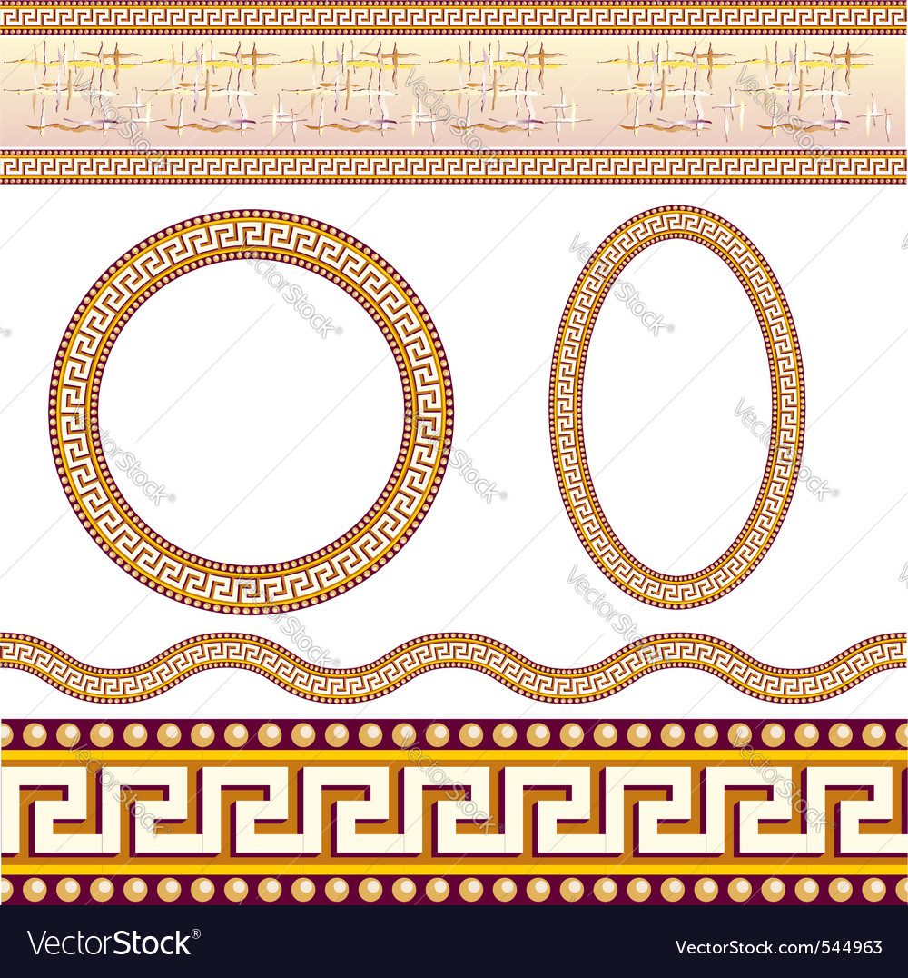 Greek border patterns vector | Price: 1 Credit (USD $1)