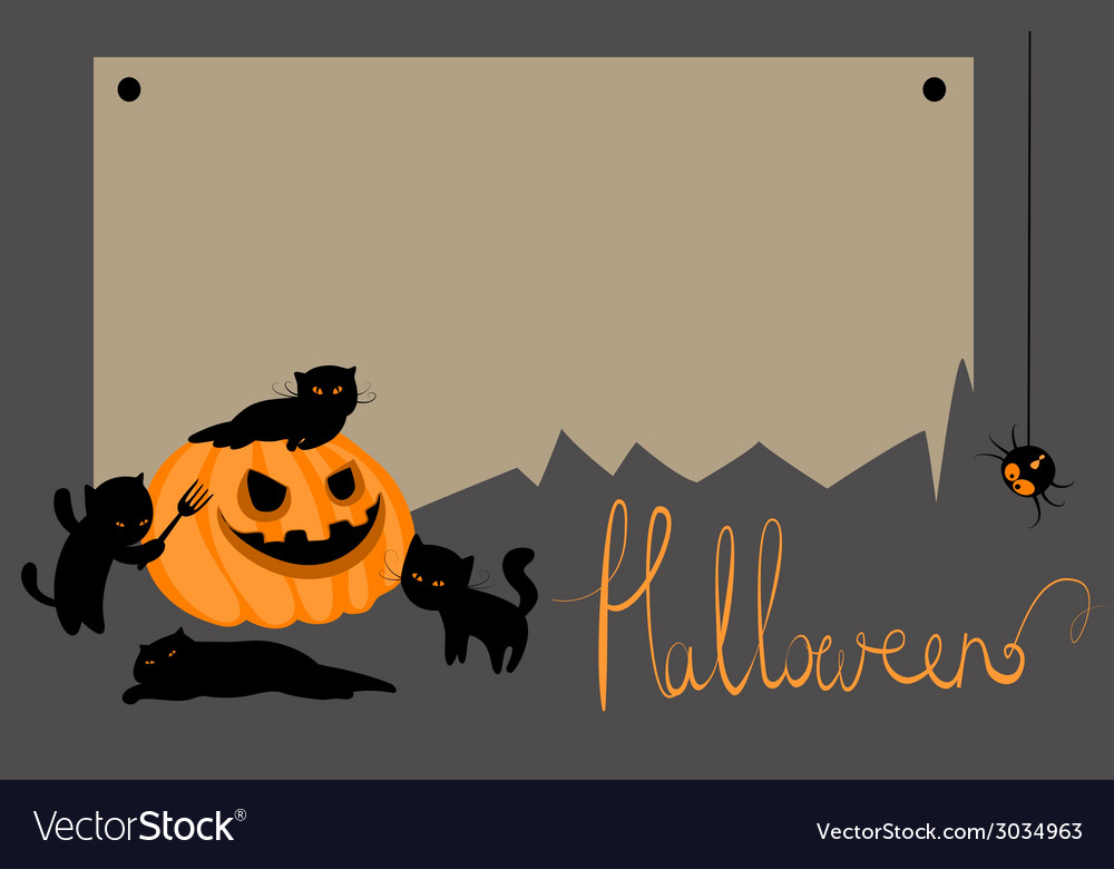Halloween card with space for text vector | Price: 1 Credit (USD $1)