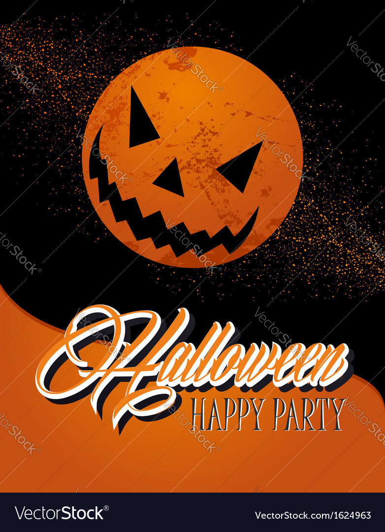 Happy halloween full moon and pumpkin eps10 file vector | Price: 1 Credit (USD $1)