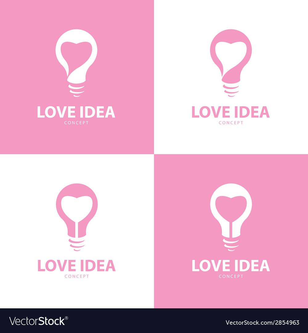 Love idea icon symbol set vector | Price: 1 Credit (USD $1)