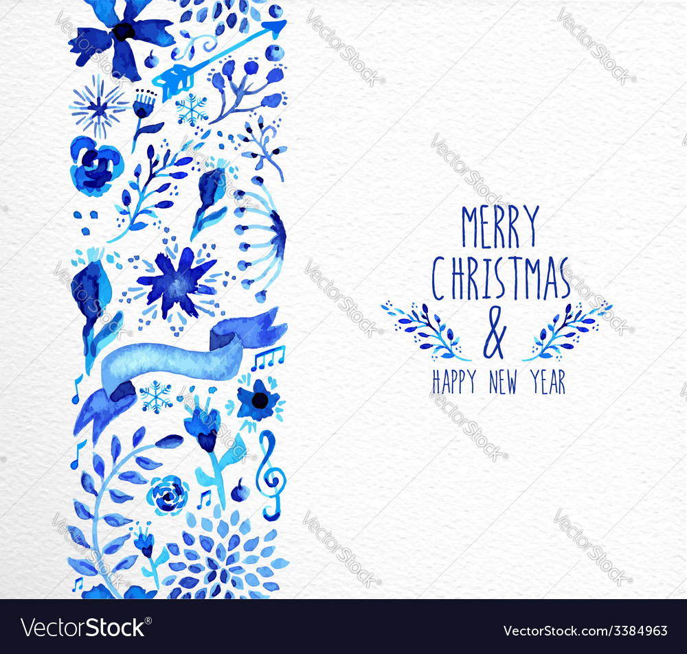 Merry christmas hand drawn seamless pattern vector | Price: 1 Credit (USD $1)
