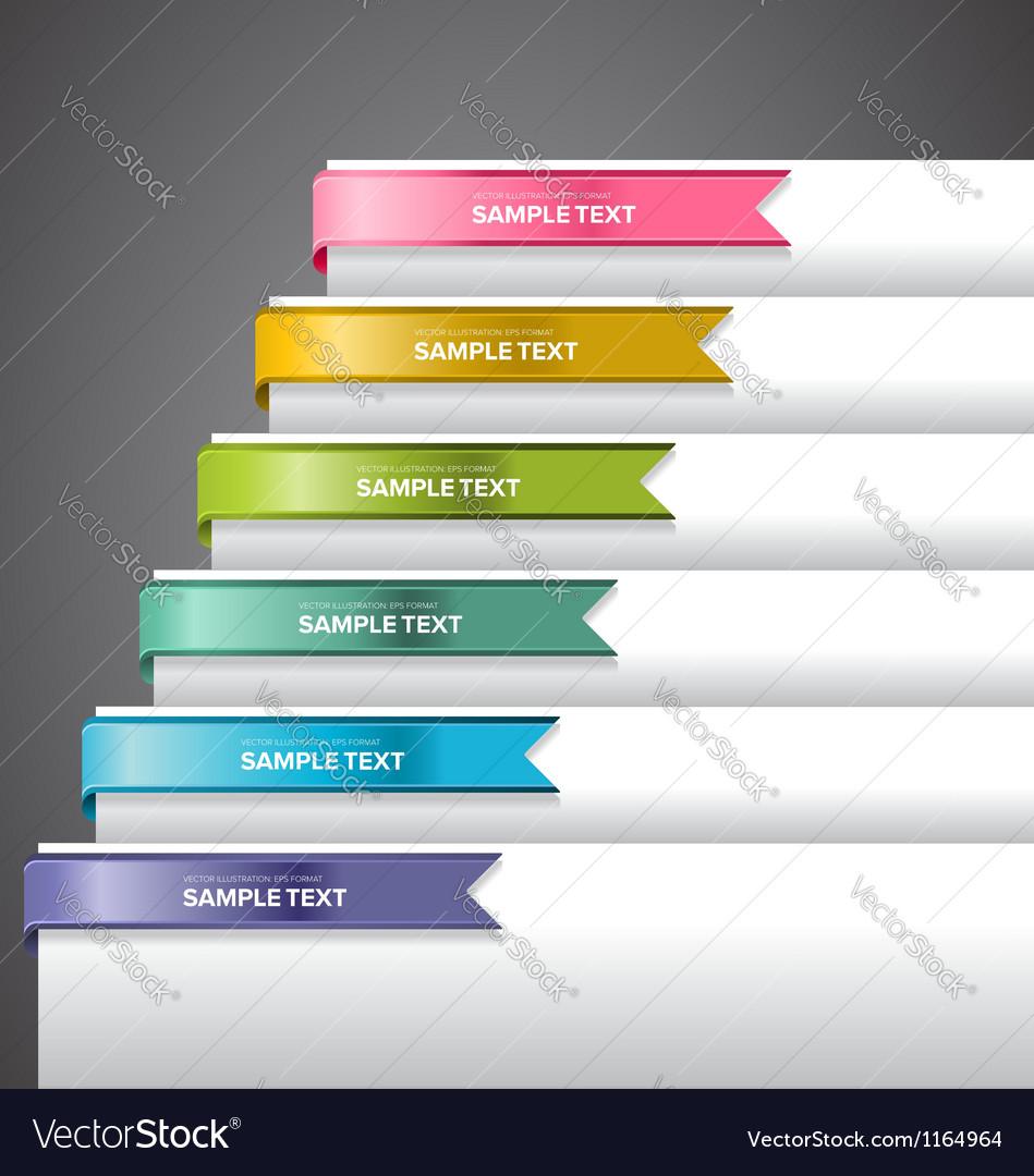 Bookmark labels ribbon vector | Price: 1 Credit (USD $1)
