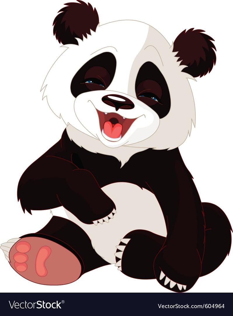 Cute baby panda vector   Price: 3 Credit (USD $3)