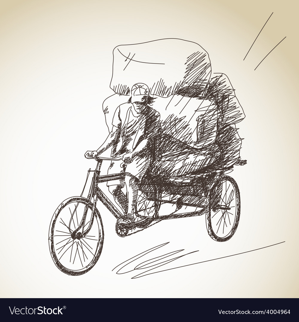 Cycle rickshaw vector | Price: 1 Credit (USD $1)