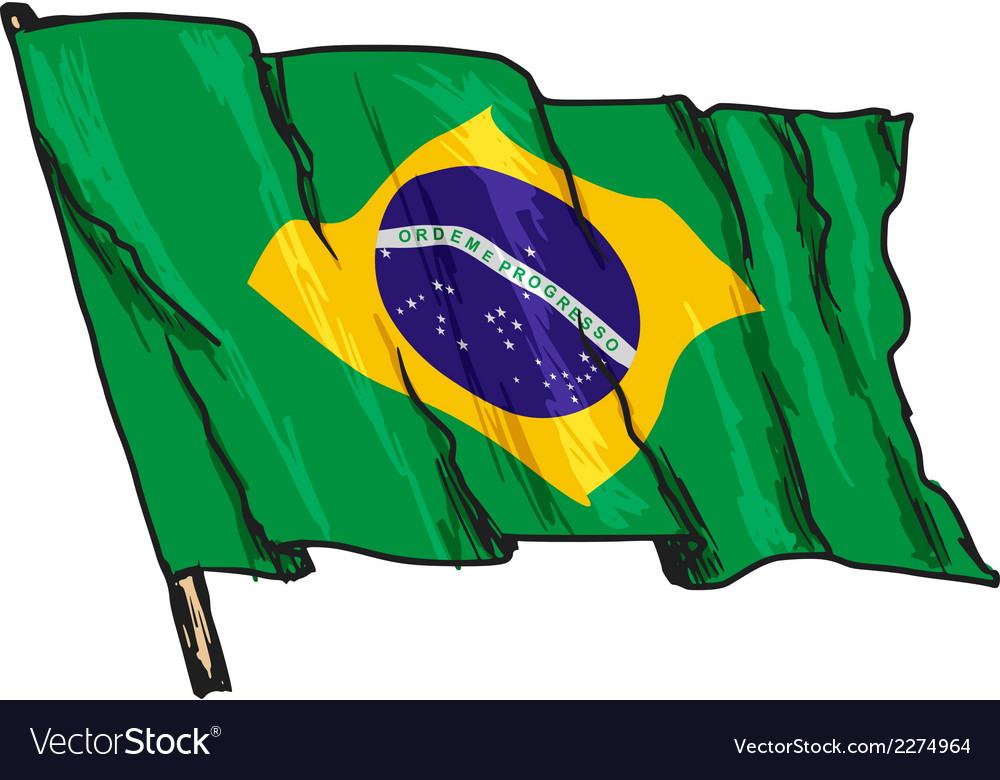 Flag of brazil vector | Price: 1 Credit (USD $1)
