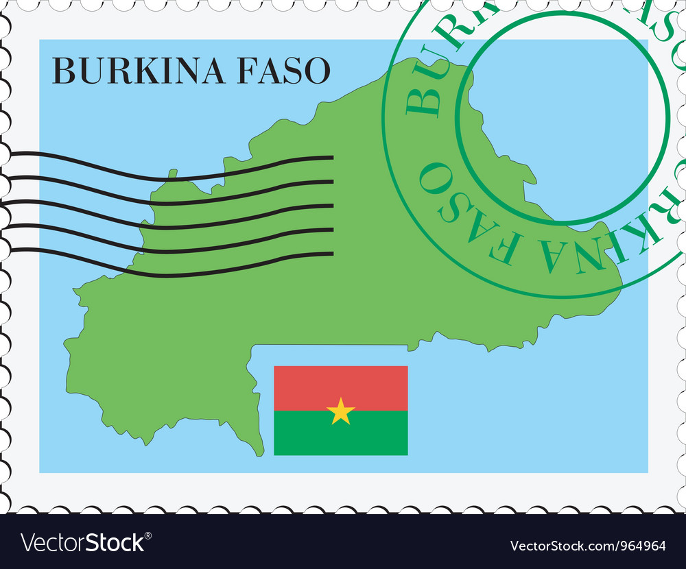 Mail to-from burkina faso vector | Price: 1 Credit (USD $1)