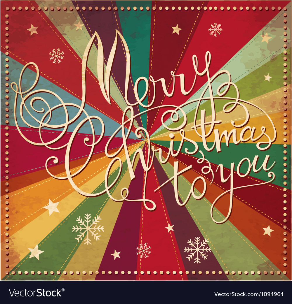 Merry christmad greeting card cover vector | Price: 1 Credit (USD $1)