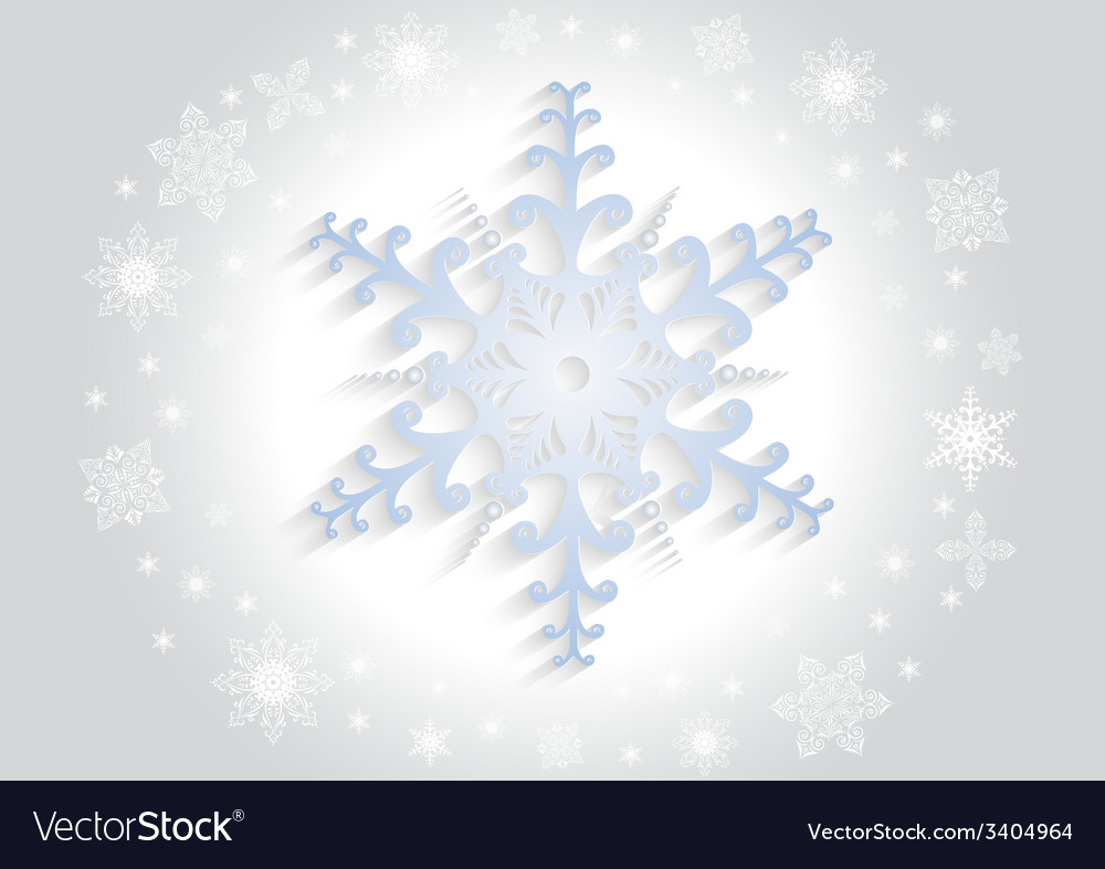 Paper snowflake with background vector | Price: 1 Credit (USD $1)