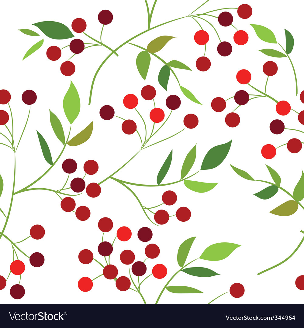 Pattern with berries vector | Price: 1 Credit (USD $1)