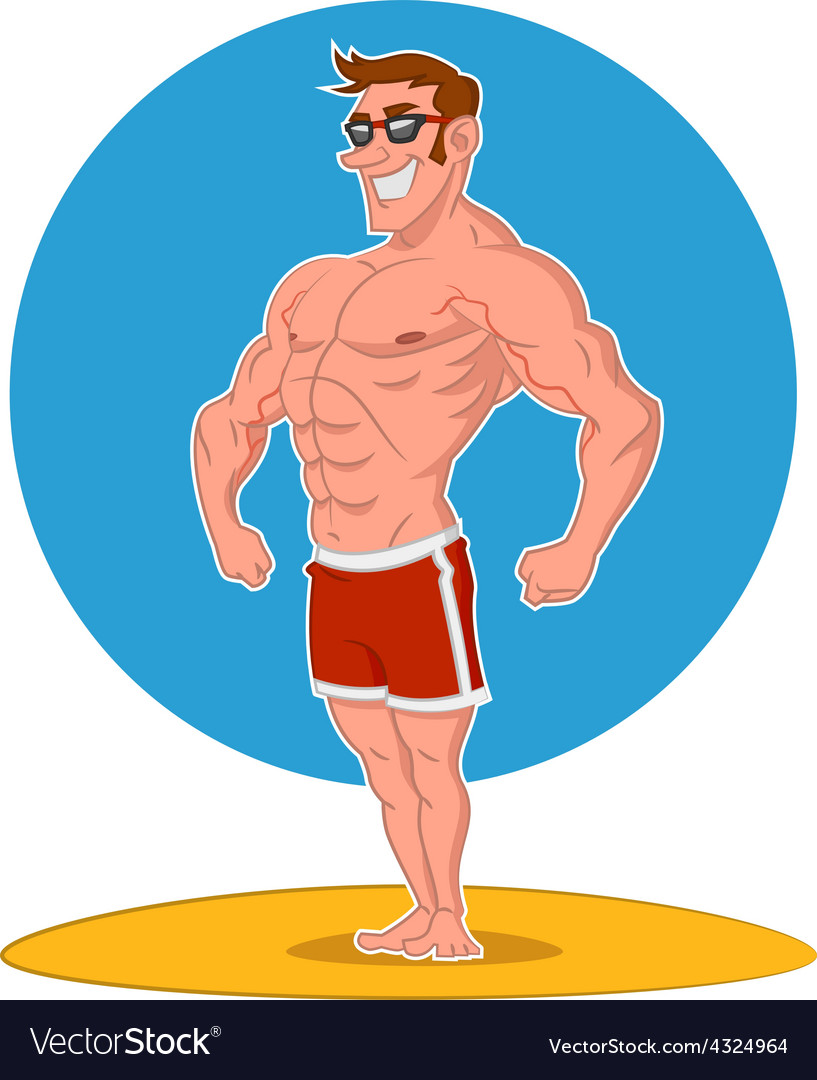 Posing bodybuilder vector | Price: 3 Credit (USD $3)