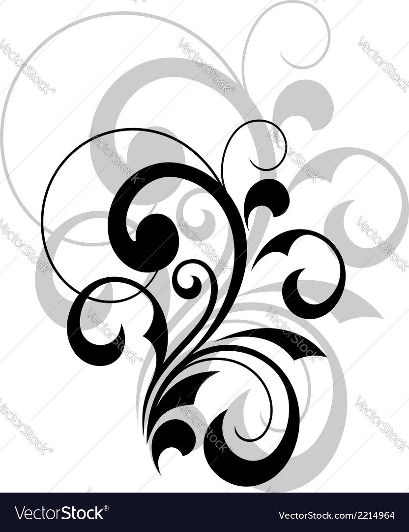 Stylish swirling calligraphic design element vector | Price: 1 Credit (USD $1)