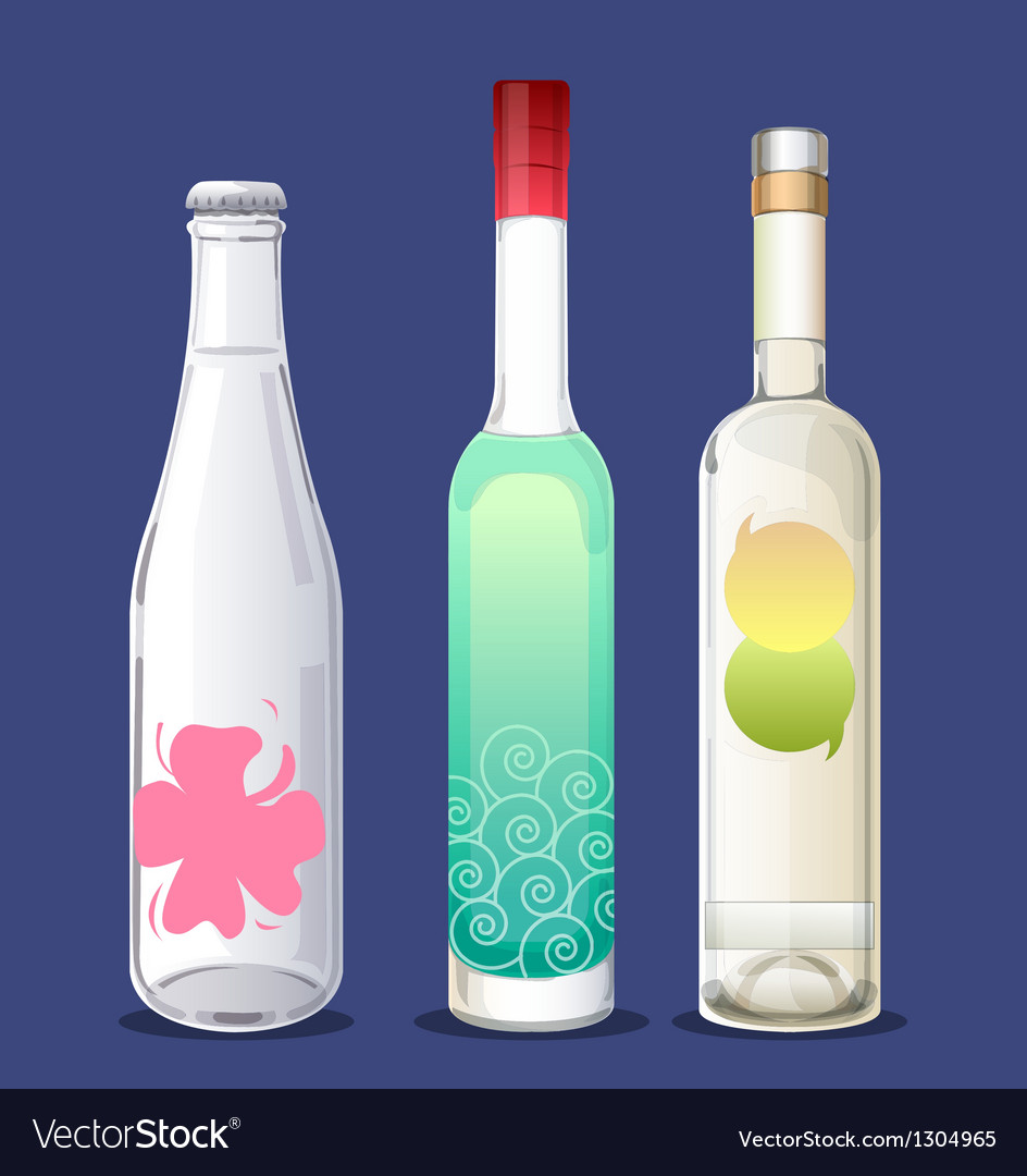 Bottles vector | Price: 1 Credit (USD $1)