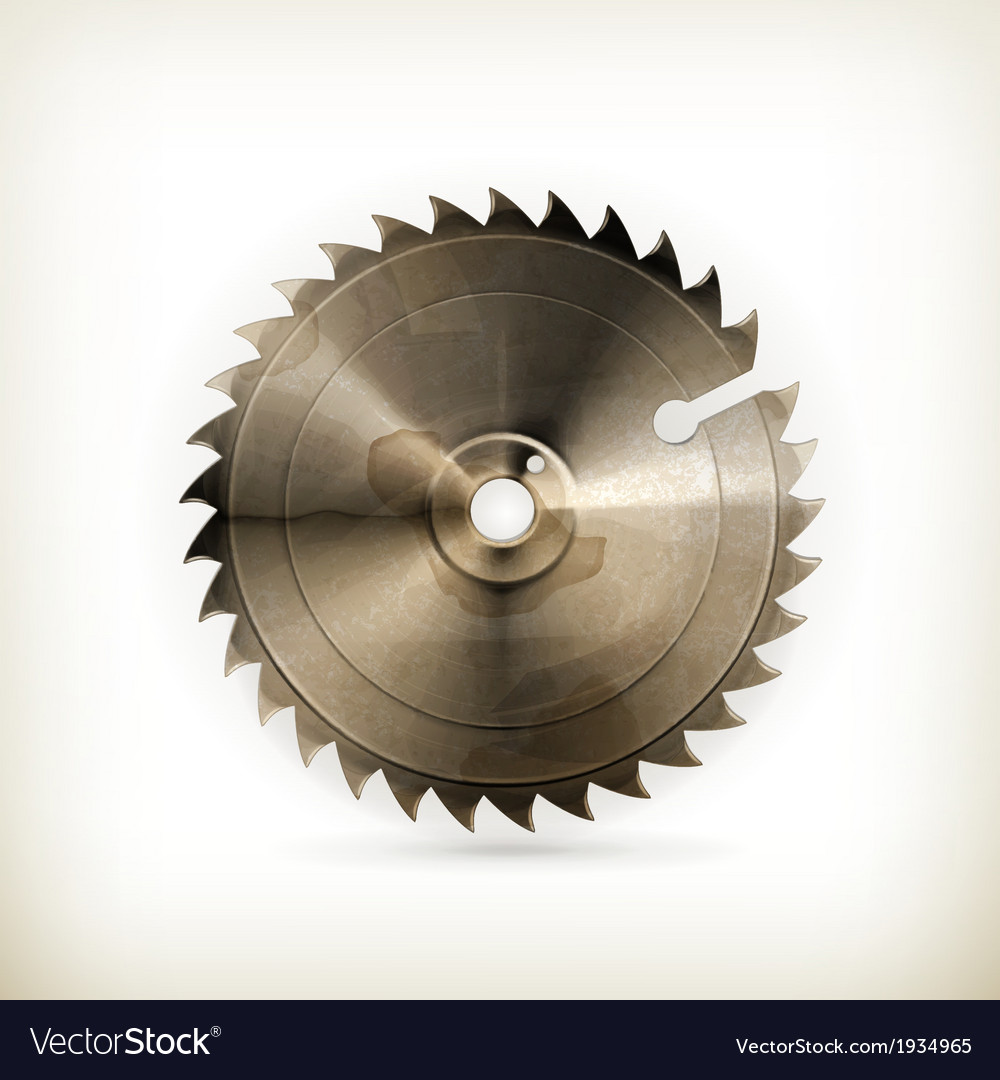 Circular saw blade old style vector | Price: 1 Credit (USD $1)