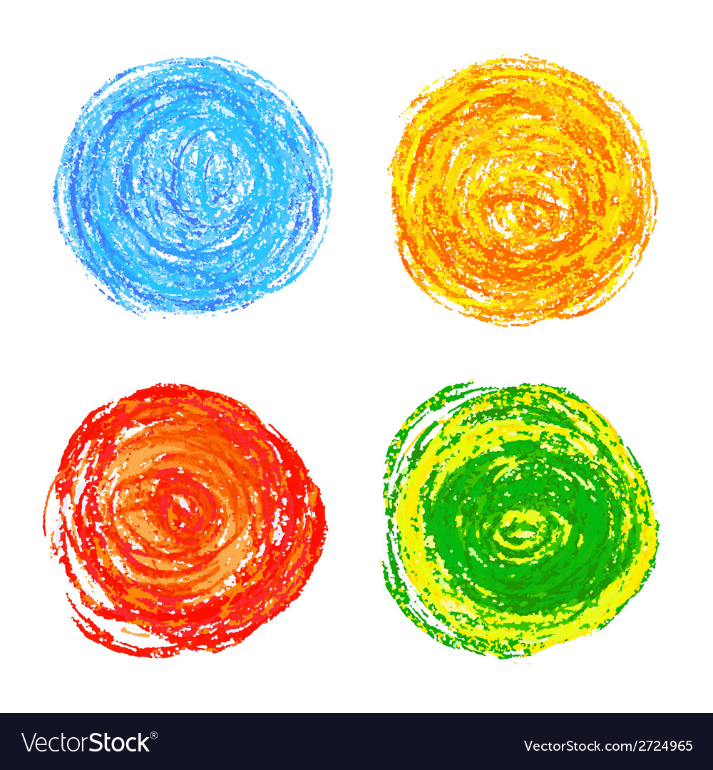 Colorful pencil strokes vector | Price: 1 Credit (USD $1)