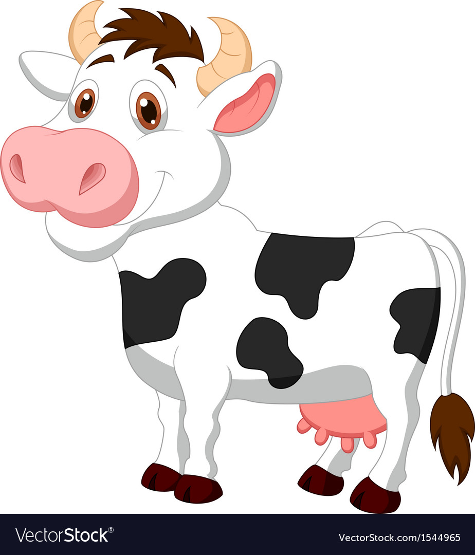 Cute cow cartoon vector | Price: 1 Credit (USD $1)