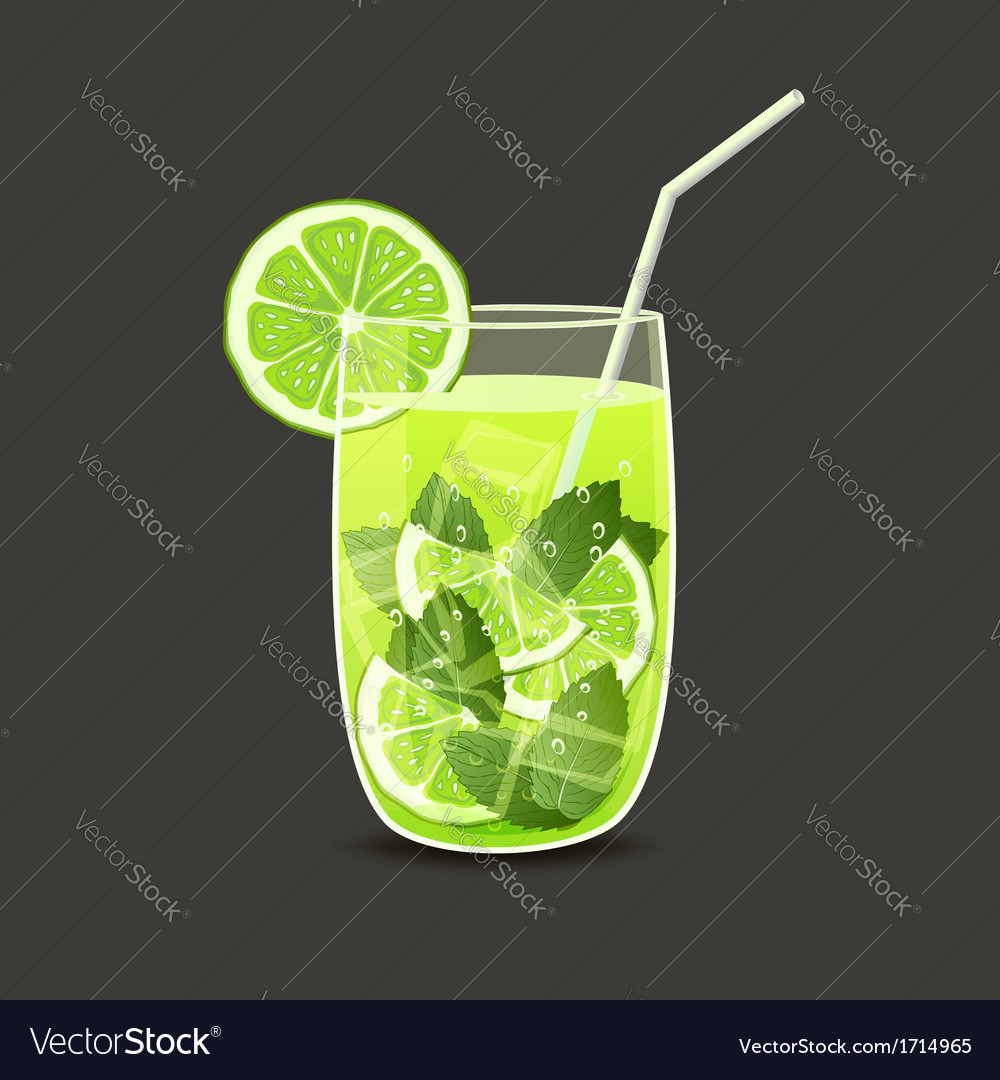 Drink in glass vector | Price: 1 Credit (USD $1)