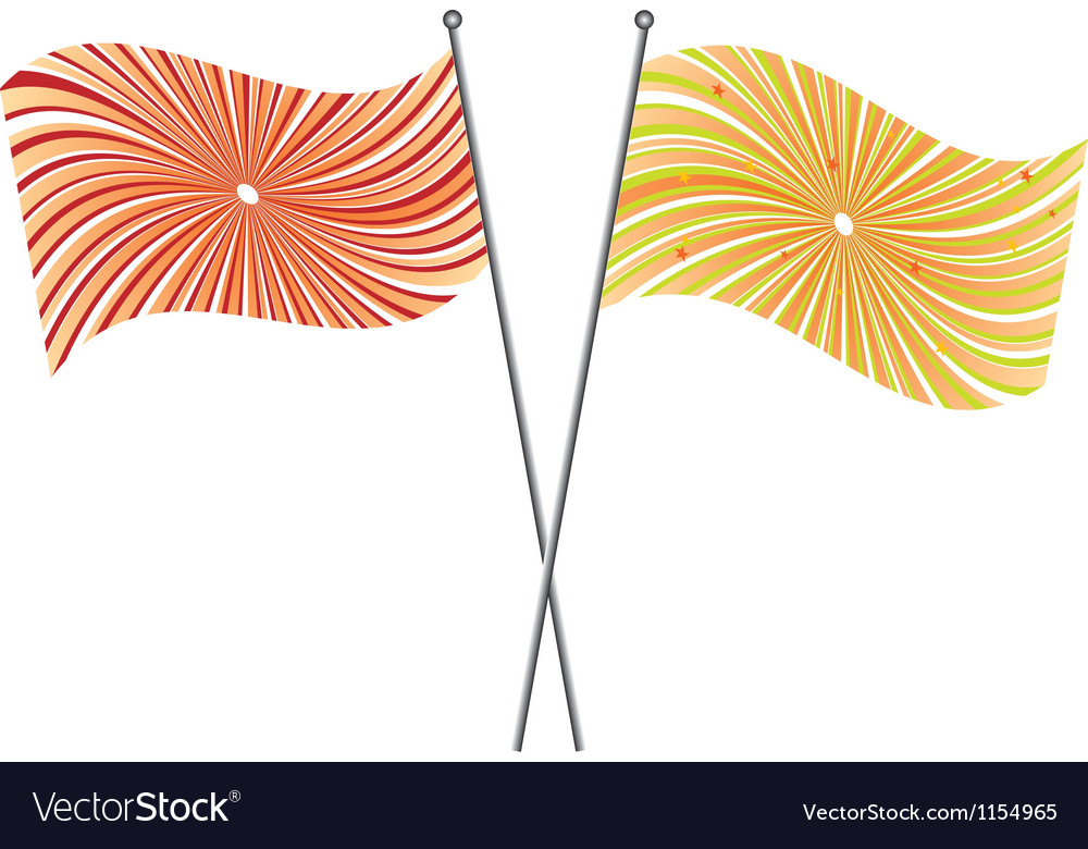 Festive flags vector | Price: 1 Credit (USD $1)