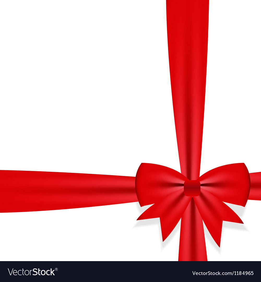 Gift bow with ribbon vector | Price: 1 Credit (USD $1)