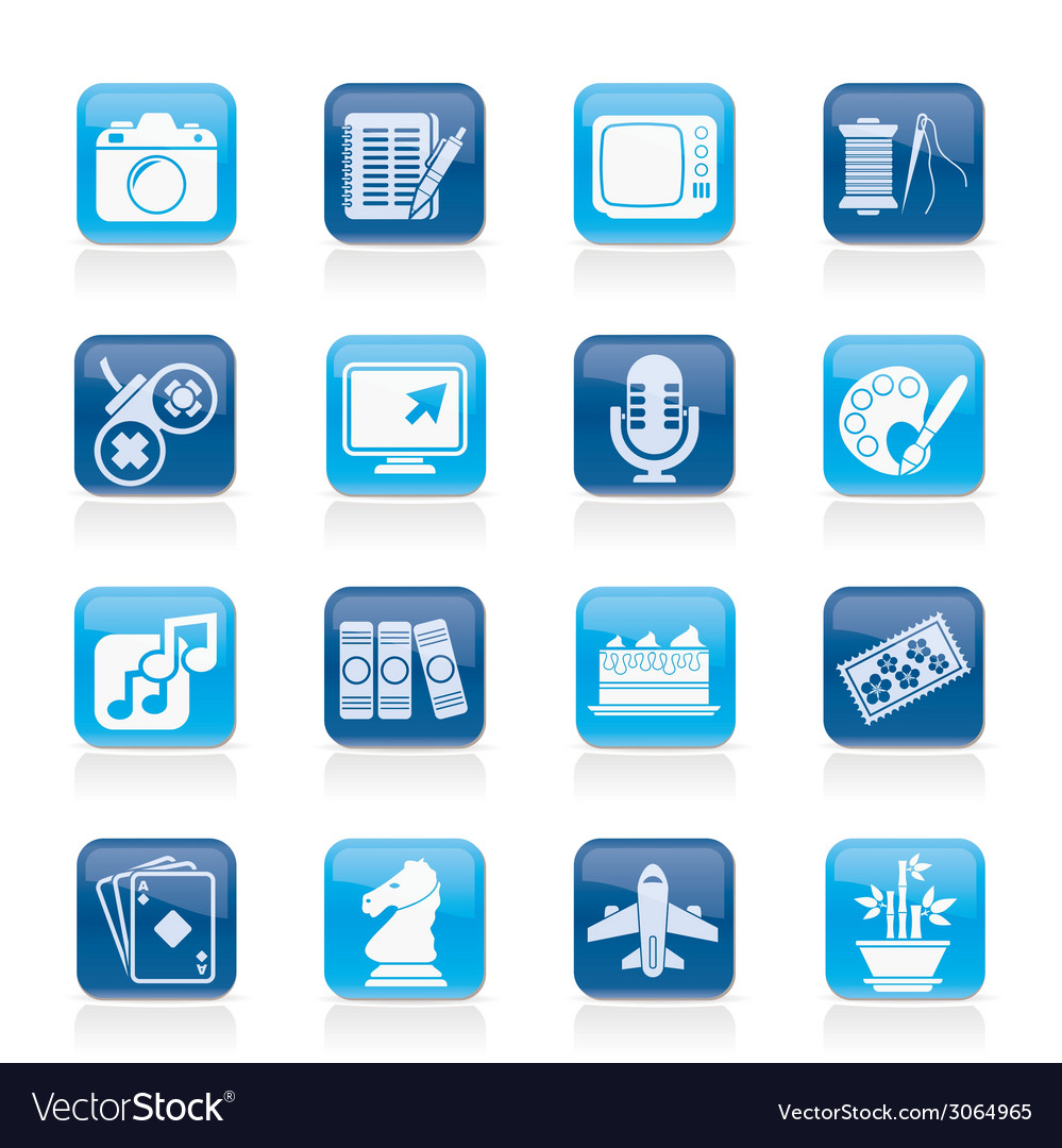 Hobbies and leisure icons vector | Price: 1 Credit (USD $1)