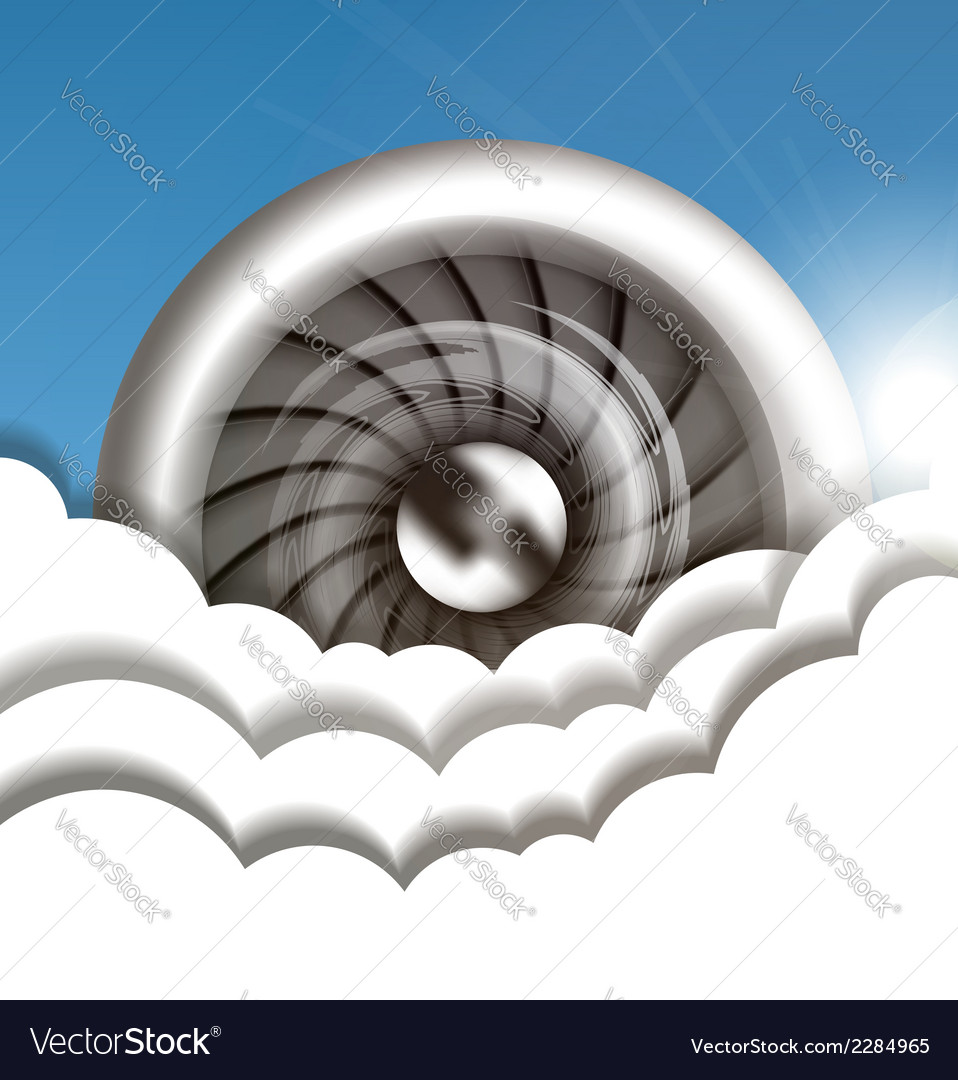 Jet engine in the sky vector | Price: 1 Credit (USD $1)