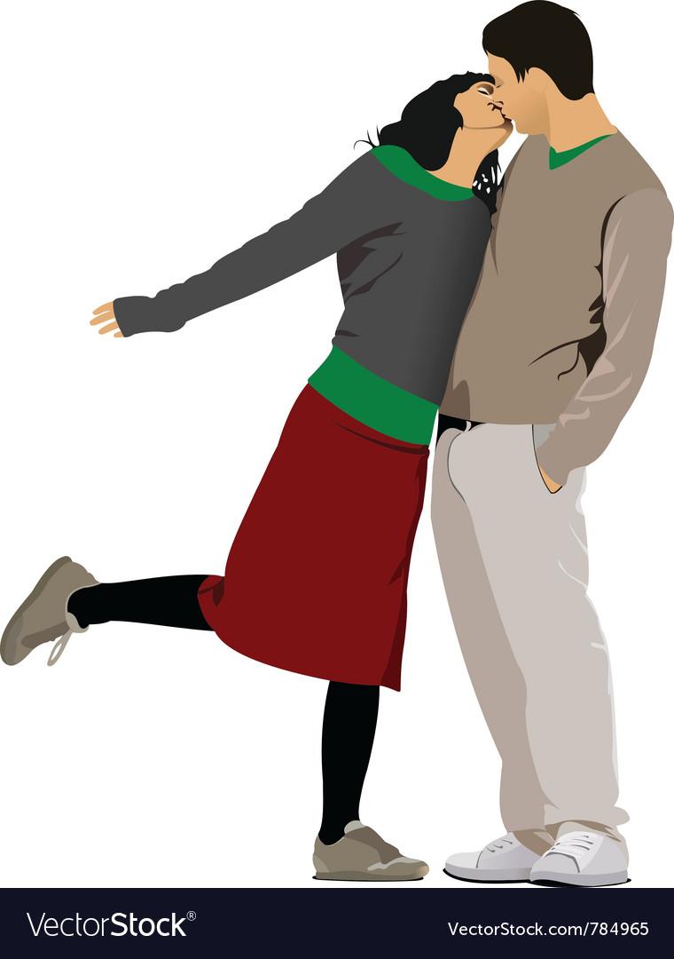 Love couple vector | Price: 1 Credit (USD $1)