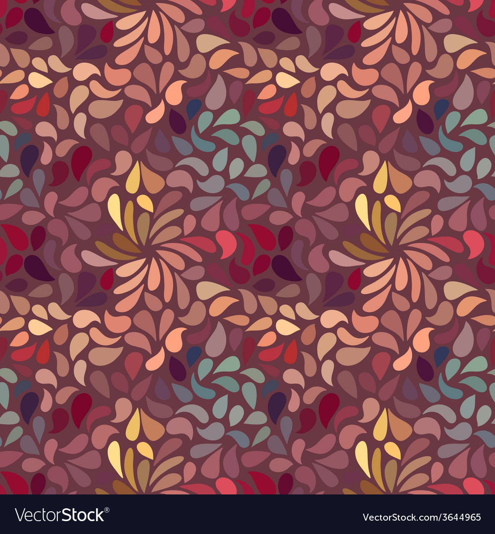 Seamless abstract floral pattern vector | Price: 1 Credit (USD $1)