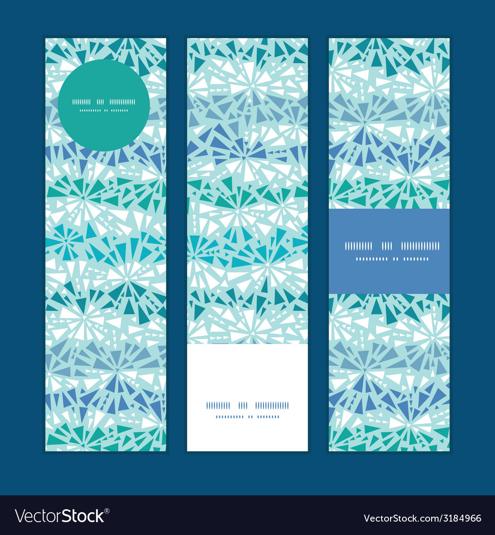 Abstract ice chrystals texture vertical banners vector | Price: 1 Credit (USD $1)