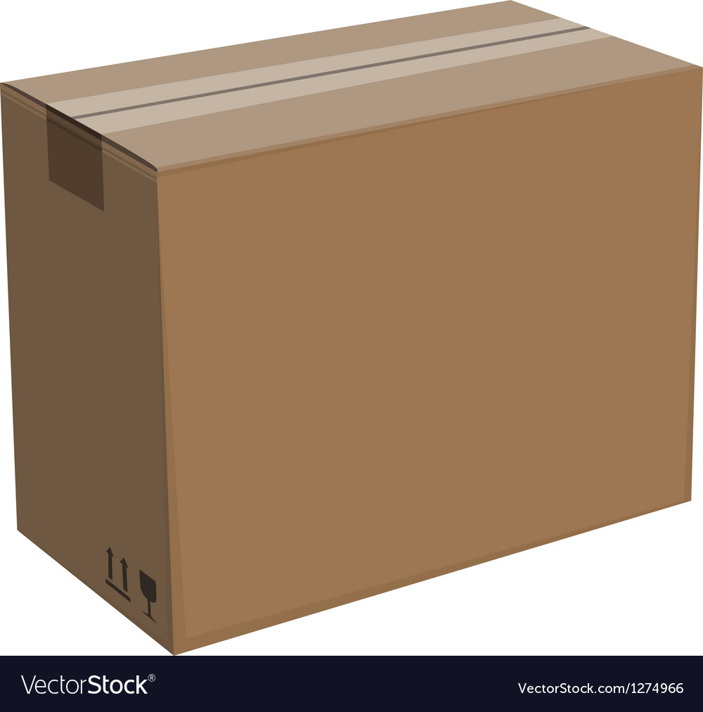 Cardboard box isolated vector | Price: 1 Credit (USD $1)