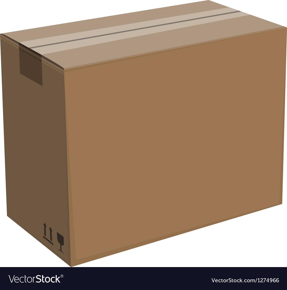 Cardboard box isolated vector