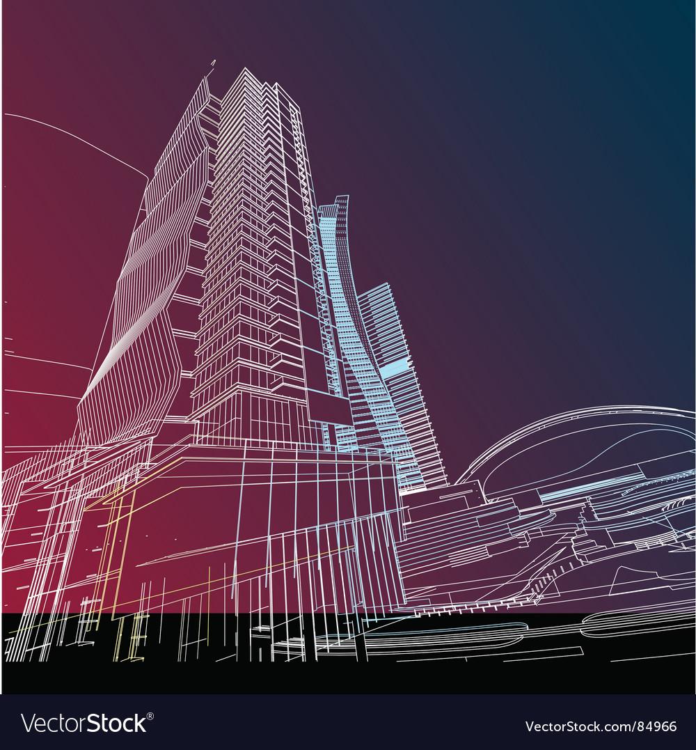 Future building vector | Price: 1 Credit (USD $1)