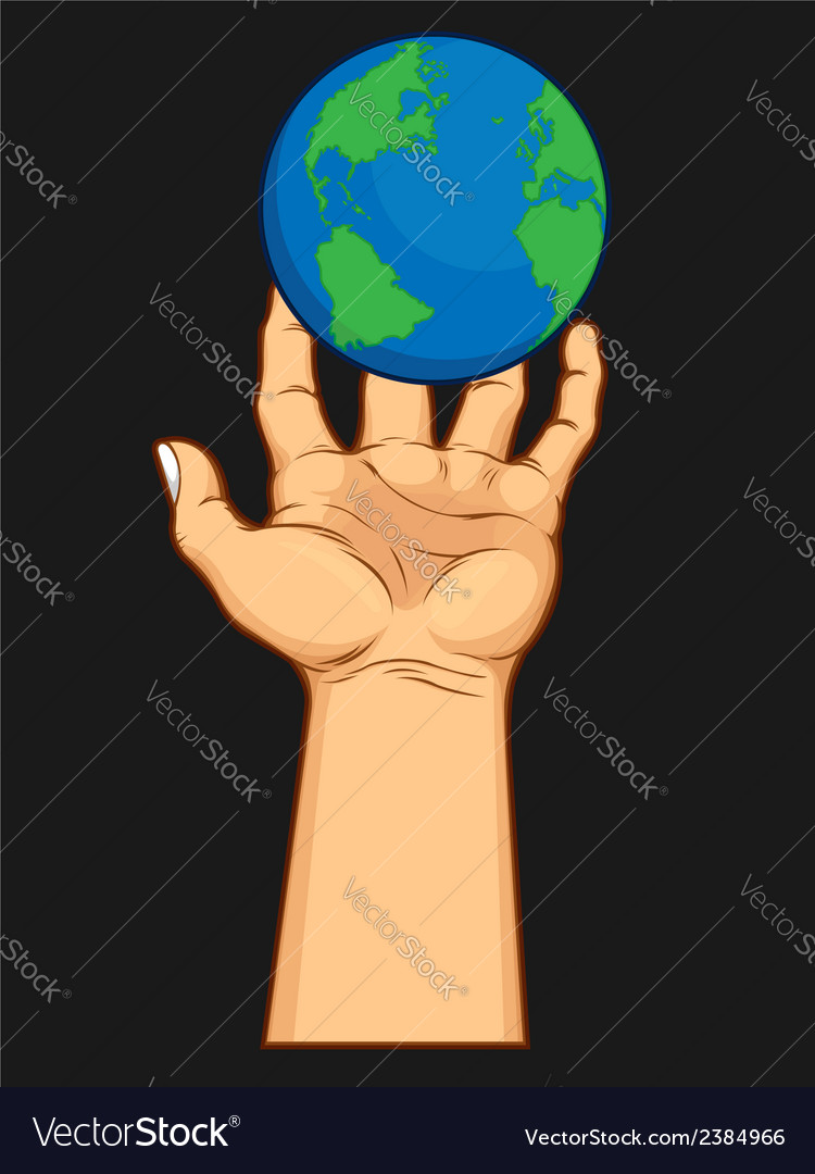 Hand grasping the world vector | Price: 1 Credit (USD $1)