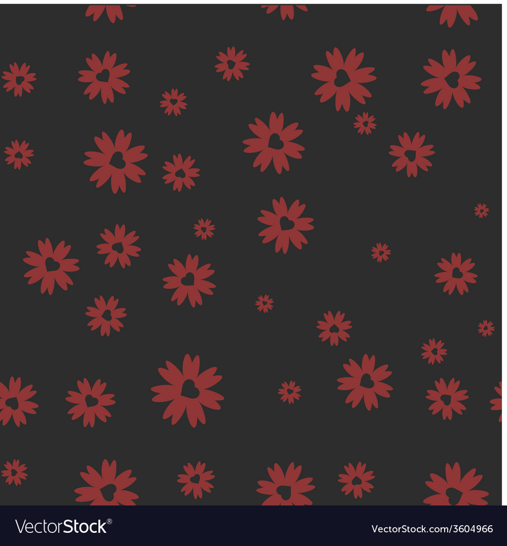 Heart in a flower seamless background vector   Price: 1 Credit (USD $1)