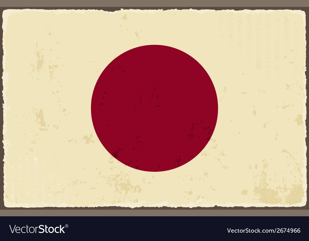 Japanese grunge flag vector | Price: 1 Credit (USD $1)