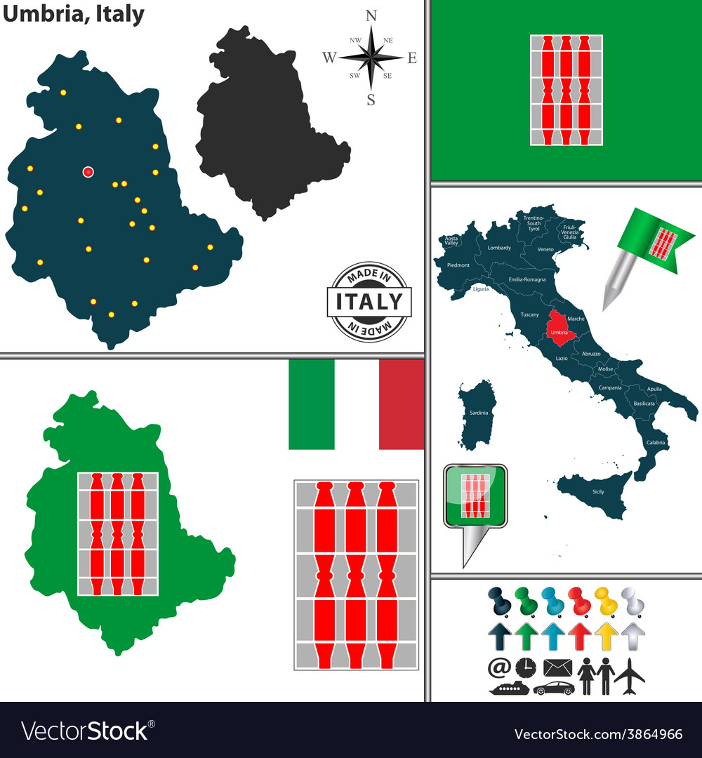 Map of umbria vector   Price: 1 Credit (USD $1)