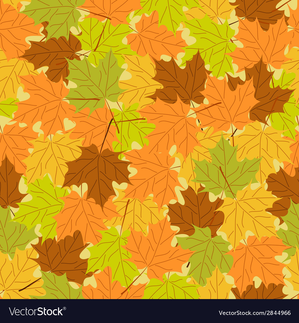 Maple leaf seamless pattern seamless background vector | Price: 1 Credit (USD $1)