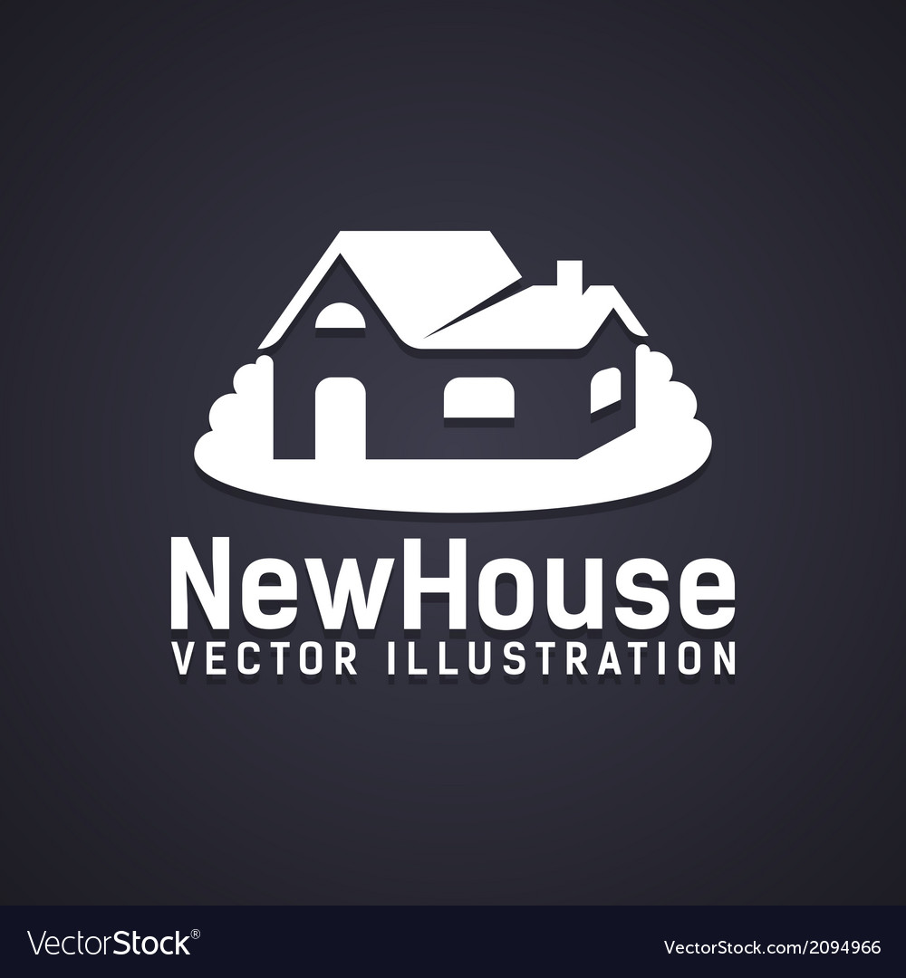 New house icon vector | Price: 1 Credit (USD $1)