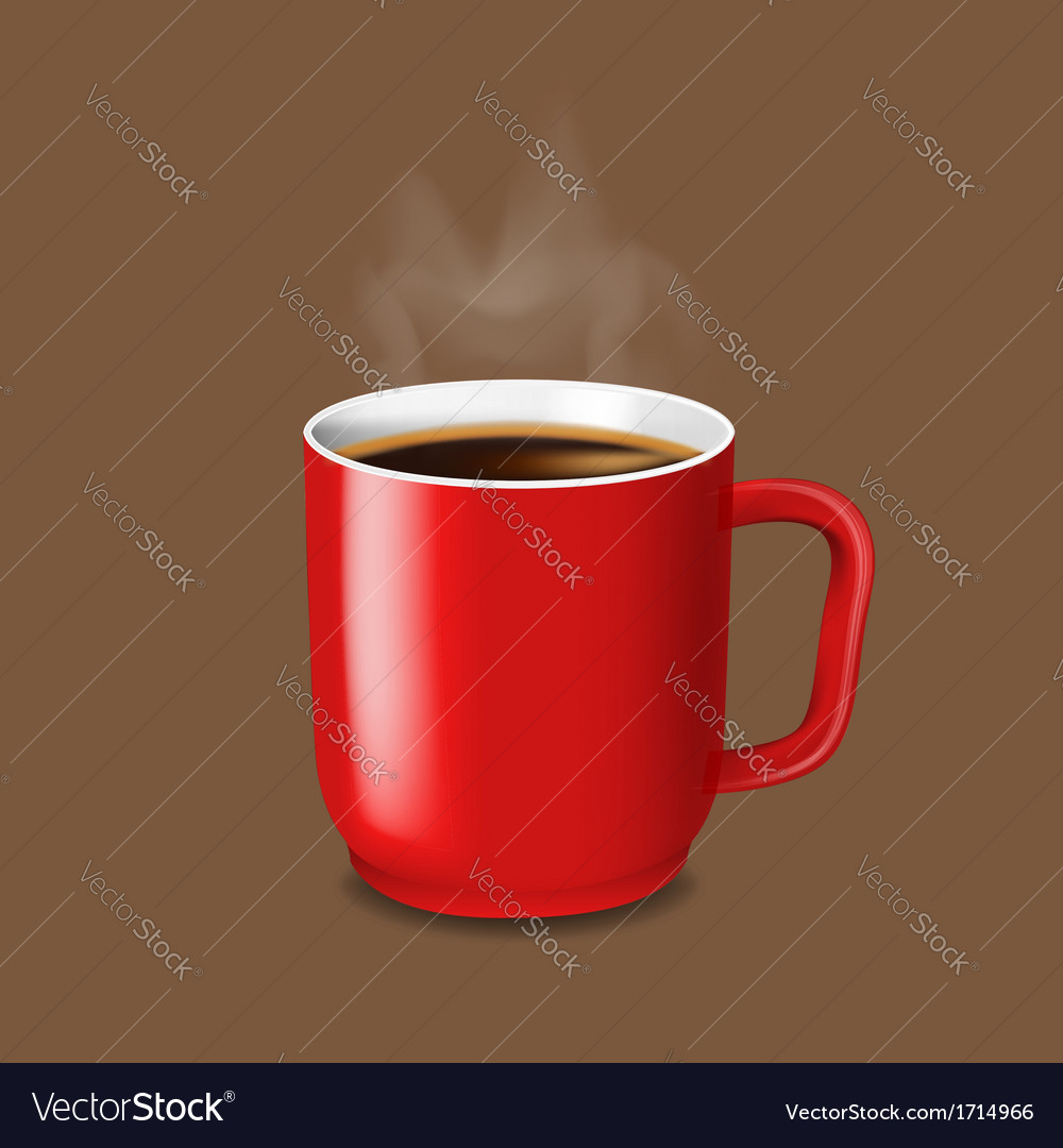 Red cup of coffee vector | Price: 1 Credit (USD $1)