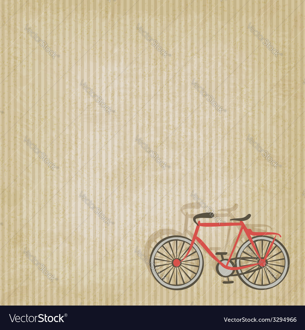 Retro striped background with bicycle vector | Price: 1 Credit (USD $1)