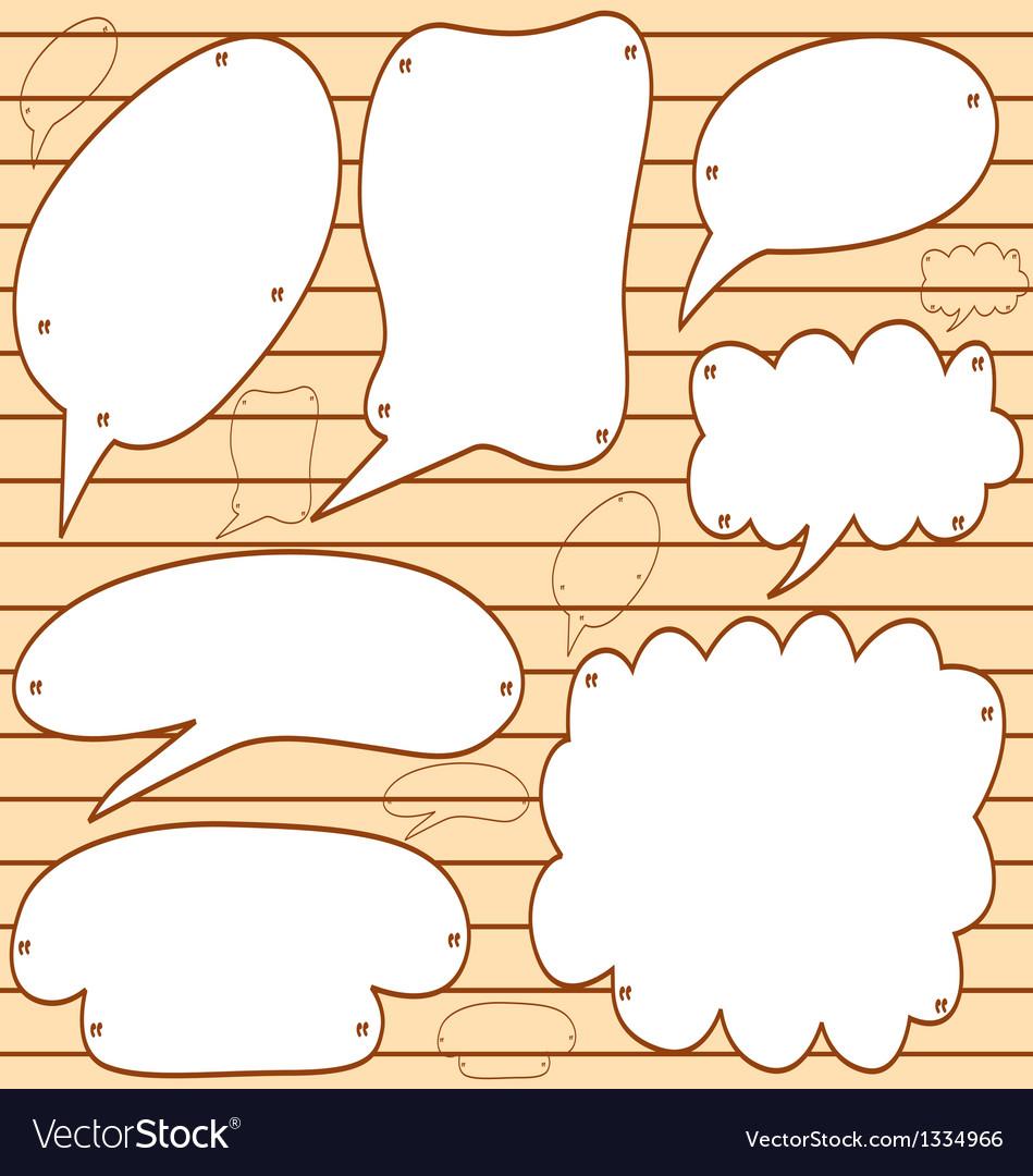 Sketchy bubble speech vector | Price: 1 Credit (USD $1)