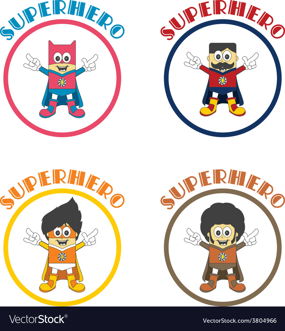 Superhero cartoon theme vector | Price: 1 Credit (USD $1)