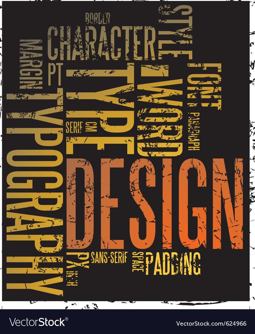 Typography background vector | Price: 1 Credit (USD $1)