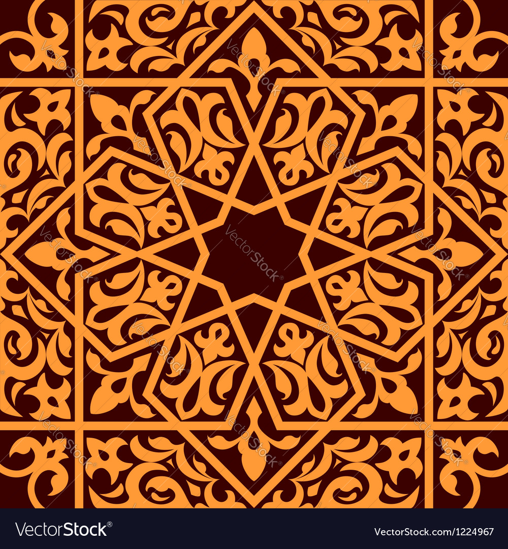 Arabic and islamic seamless ornament vector | Price: 1 Credit (USD $1)