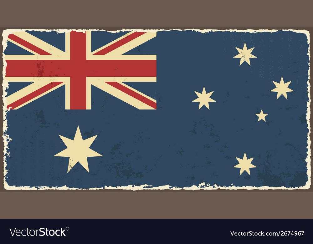 Australian grunge flag vector | Price: 1 Credit (USD $1)