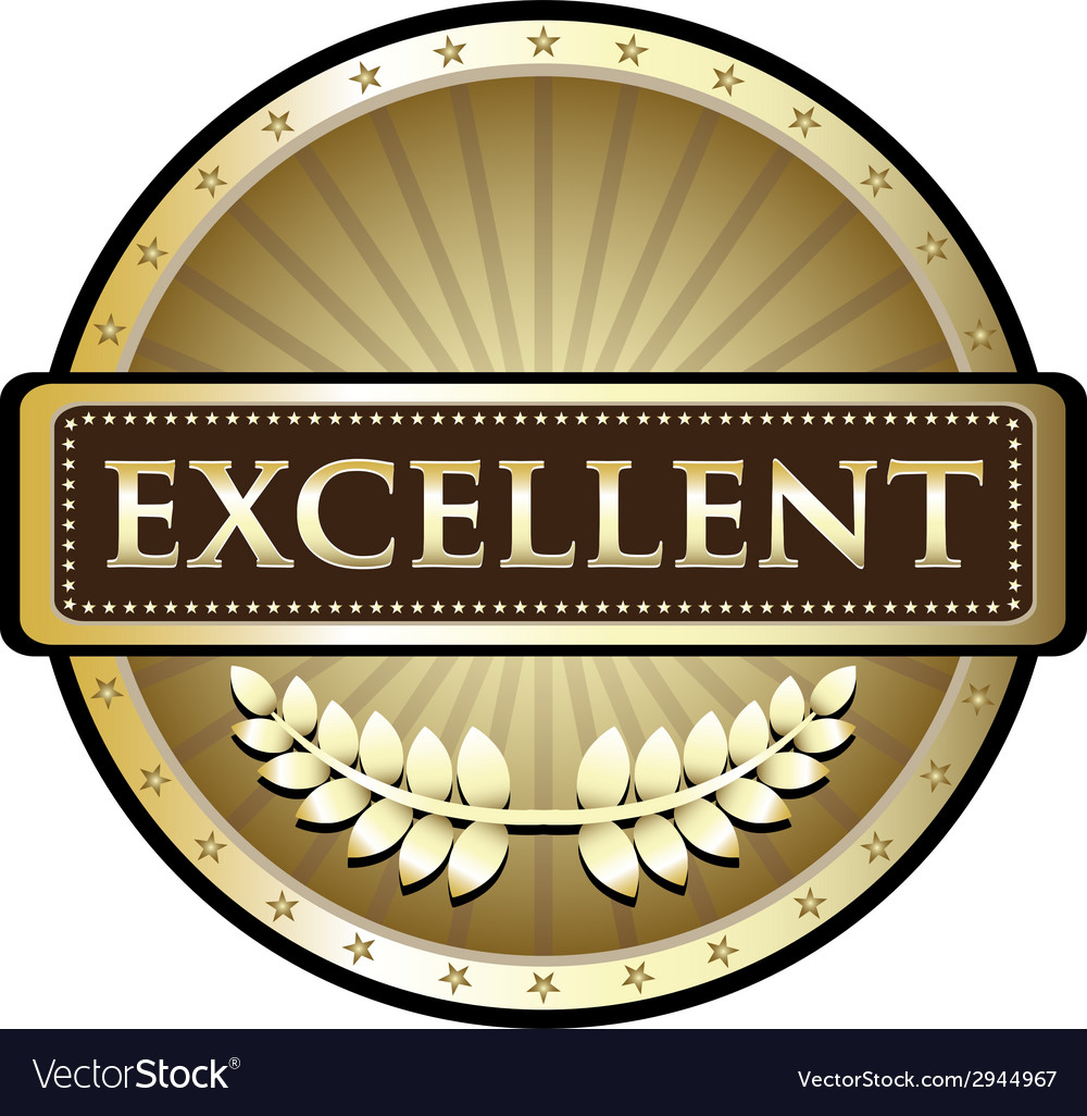 Excellent gold label vector | Price: 1 Credit (USD $1)