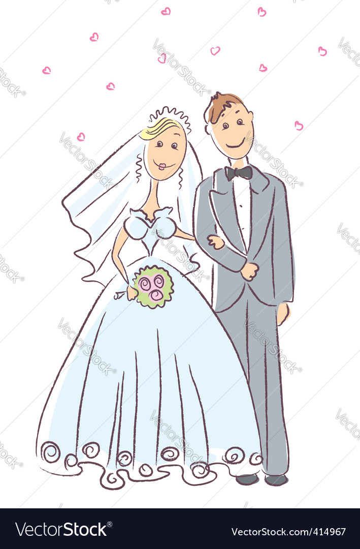 Just married vector | Price: 1 Credit (USD $1)