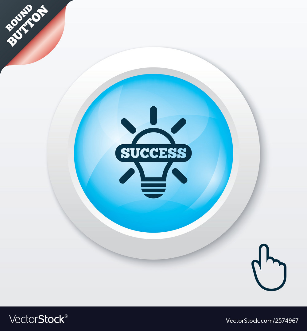 Light lamp sign icon bulb with success symbol vector   Price: 1 Credit (USD $1)