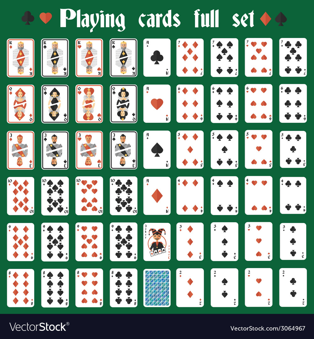 Playing cards full set vector | Price: 1 Credit (USD $1)